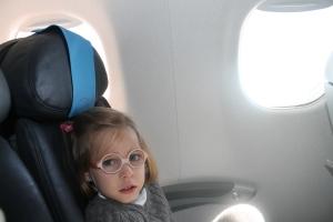 Men el el avión loca de contenta por ir a Madrid