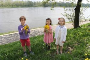 De Paseo Recogiendo flores